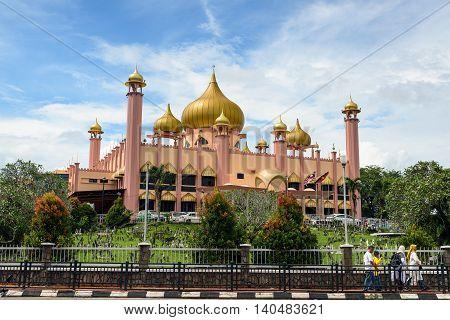 Kuching Malaysia - Dec 30 2015: Old State Mosque in Kuching. Sarawak. Malaysia. Borneo