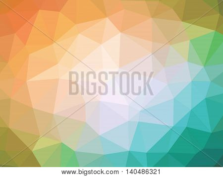 Abstract orange teal gradient polygon shaped background.