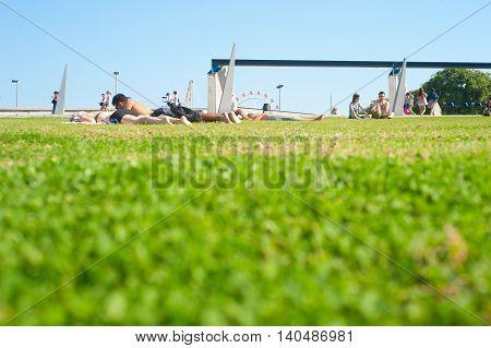 Rest On A Grass