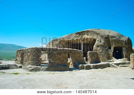 Famous Uplistsikhe Cave. Georgian Republic