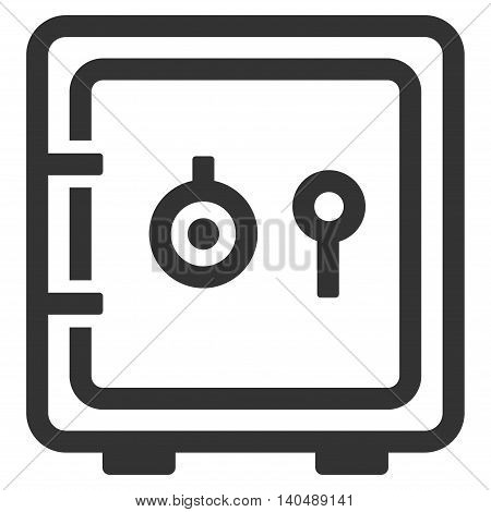 Safe icon. Vector style is flat iconic symbol with rounded angles, gray color, white background.