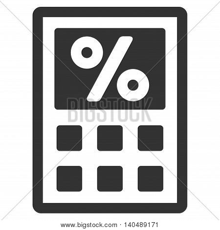 Tax Calculator icon. Vector style is flat iconic symbol with rounded angles, gray color, white background.
