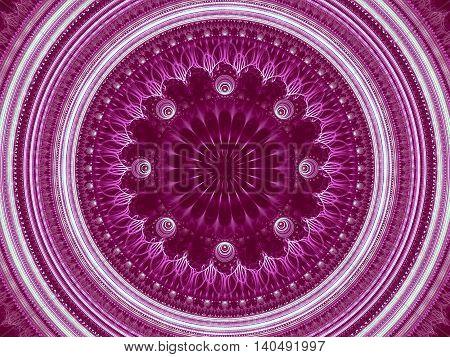 Abstract Mandala Flower - Digitally Generated Image