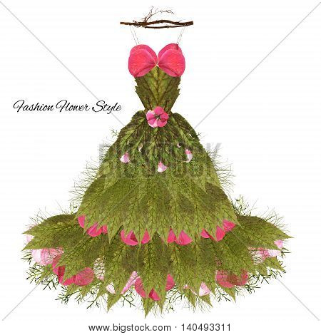 fantastic dress made of flowers on a hanger High Style floral fashion