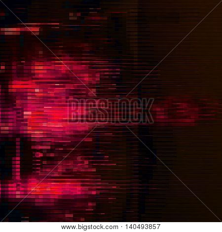 Abstract vector background with glitch effect. Can be used in web design packaging design. Vector illustration.