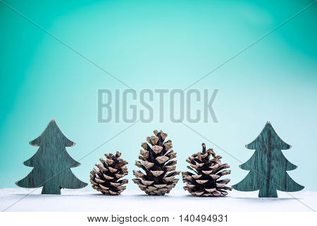 Pine Cones Christmas Background