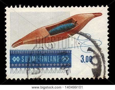 FINLAND - CIRCA 1979: a stamp printed in Finland shows Weaving Shuttle Drive,