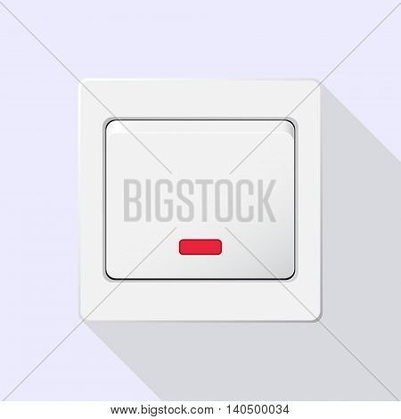 Semi realistic Switch white. Icon. Vector Image. With shadow.
