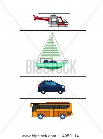 set means transport icon vector graphic isolated