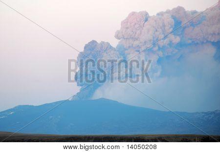 Iceland erupting volcano