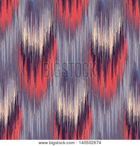 Grey and red seamless Ikat Pattern. Abstract background for textile design wallpaper surface textures wrapping paper.