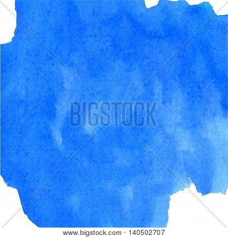 Deep blue waterolour background made in vector.