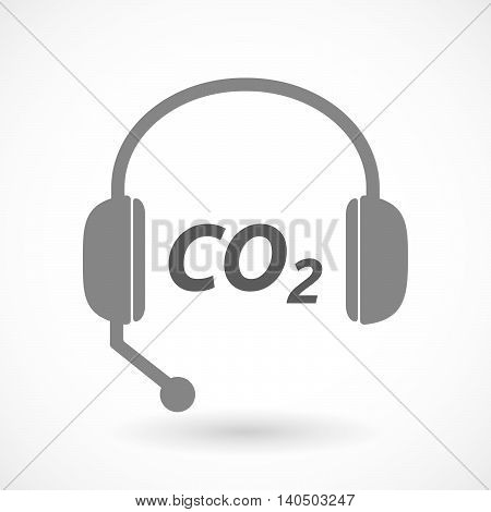 Isolated  Headset Icon With    The Text Co2