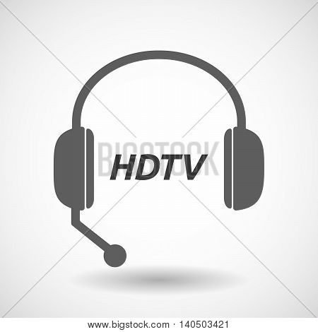 Isolated  Headset Icon With    The Text Hdtv