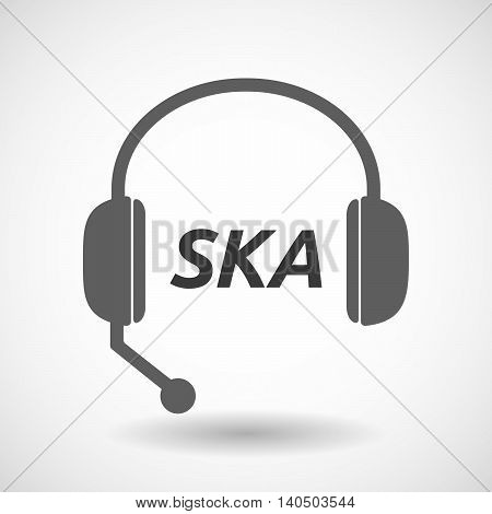Isolated  Headset Icon With    The Text Ska