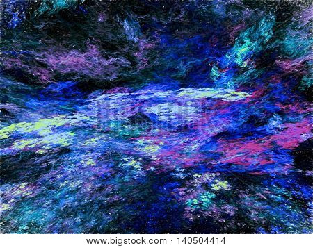 Abstract Fractal Sky Digitally Generated Image
