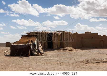 house Berber in the Sahara desert, Morocco