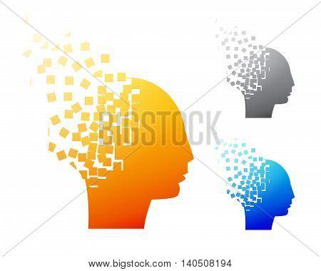 Abstract brain logo or Alzheimer symbol vector