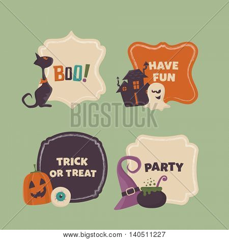 Halloween frames set