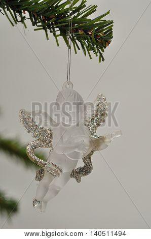 A see through angel Christmas tree decoration
