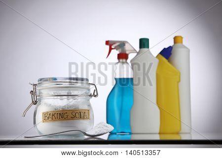 baking soda in front of detergent