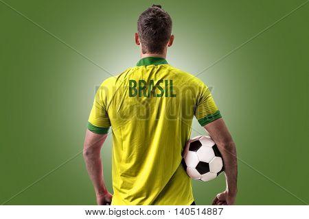 Athlete on Brazil uniform