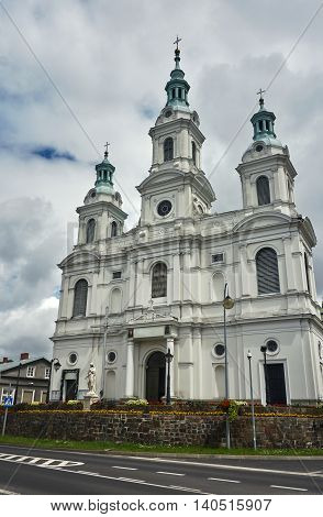 Neo-baroque Catholic Church in Radomsko in Poland