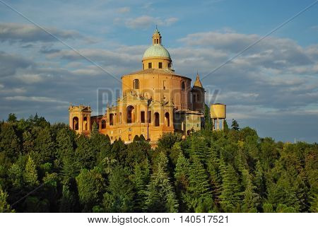 Bologna,it - Circa June 2012 - View Of S.luca Church On The Hills Near Bologna, Circa June 2012.