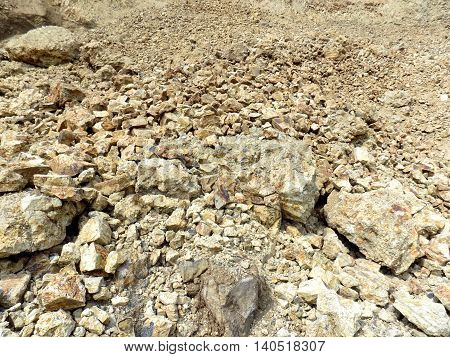 Pile of stone in Stone Pit during day