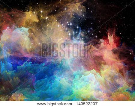 Magic Of Space Nebula