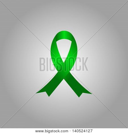 Vector illustration of AIDS awareness ribbon. Breast cancer awareness ribbon.