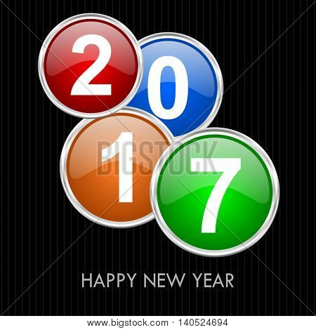 Happy new year 2017 vector greeting card