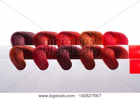 hair samples  created  intensity of different colors