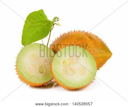 Gac Fruit Isolated On The White Background