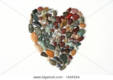 Filled Rock Heart