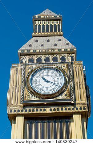 Model of Big Ben tower vintage, watch, westminste
