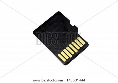 Memory card micro CD on white background