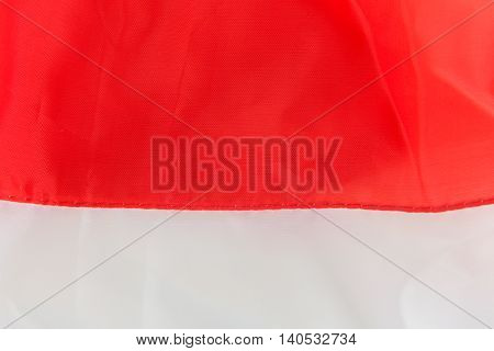 Disastrously of red and white fabric texture for background.