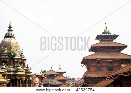 Historic ancient Temples of Patan Durbar SquareNepal.
