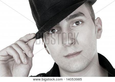 Man With Black Hat