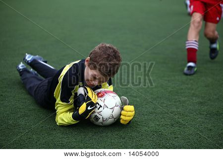 Goalkeeper with ball