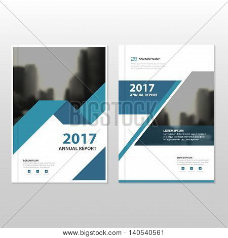 Blue Vector annual report Leaflet Brochure Flyer template design book cover layout design abstract business presentation template a4 size design