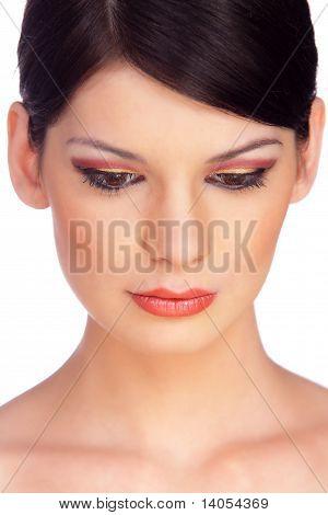 Close-up Portrait Of A Beautiful Brunette 2