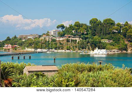 The hilltops of Kanoni. Corfu island Greece.