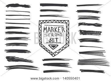 Permanent marker.  Marker stroke.