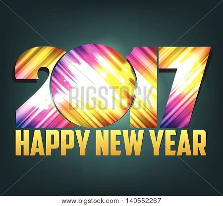 Happy New Year 2017 colorful abstract background