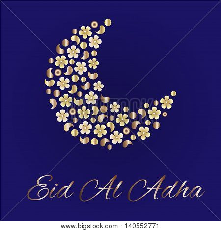 Eid greetings for Arabic holiday. An Islamic greeting card for Eid Al Adha