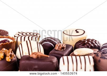 Closeup Of Pralines Isolated