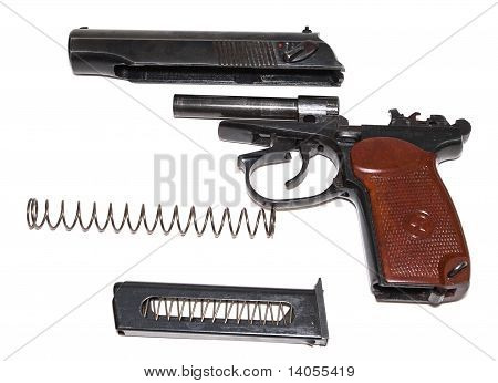 Russian disassembled handgun