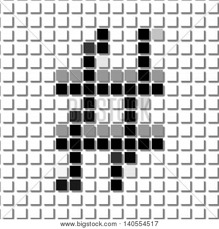 The Hash. Simple Geometric Pattern Of Black Squares In Hash